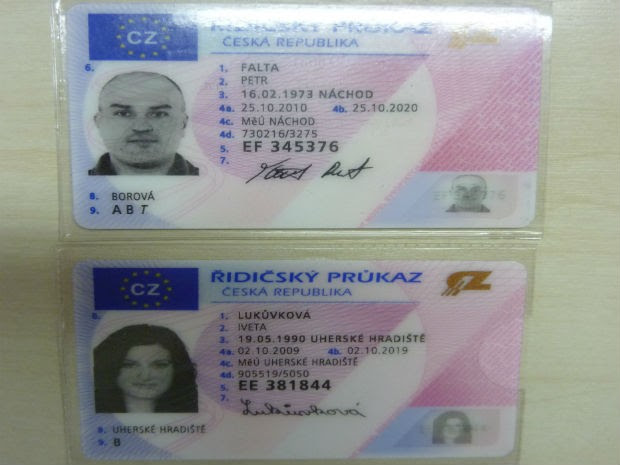 Documentos comprovam que casal é da República Tcheca (Foto: Divulgação/Polícia Federal)