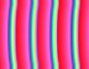 Illustrazione degli effetti delle tre impostazioni di ripetizione per il gradiente Abstract 2.