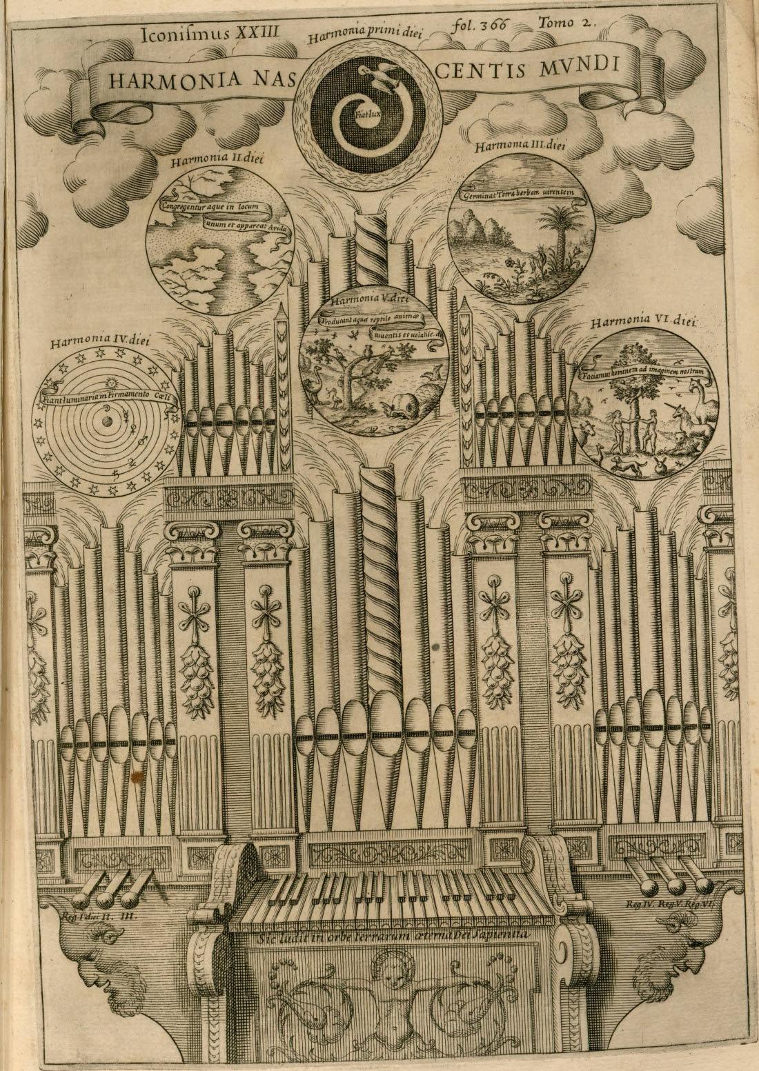 Genesis creation via organ harmonics
