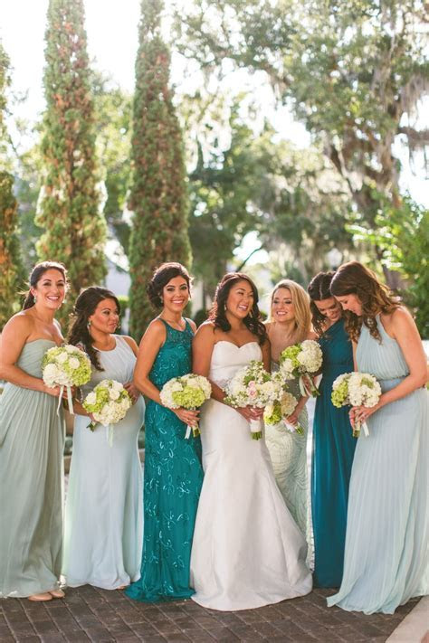Teal, Mint and Gold Modern Wedding