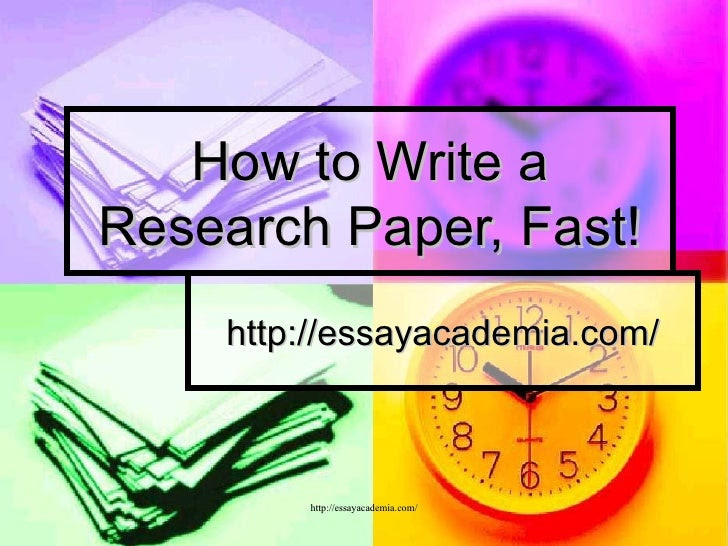 how to write fast on paper