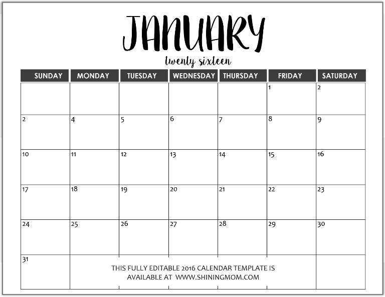 June 2016 Calendar Editable   free calendar 2017