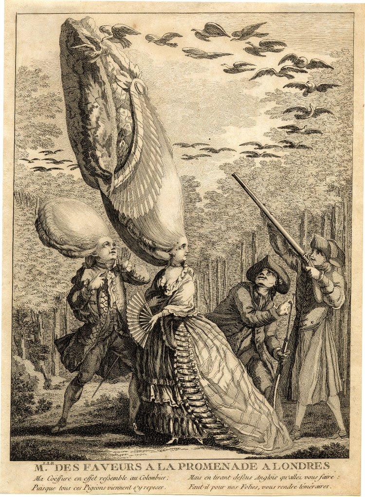 Mlle des Faveurs a la Promenade a Londres 1770s