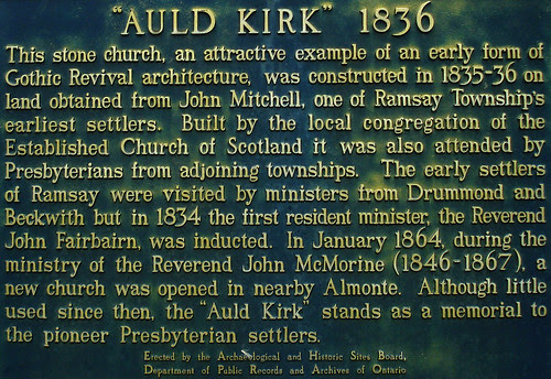 The Auld Kirk Historical Plaque
