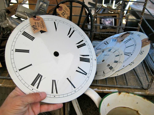 Enamel clock faces (I SO WANTED THESE)