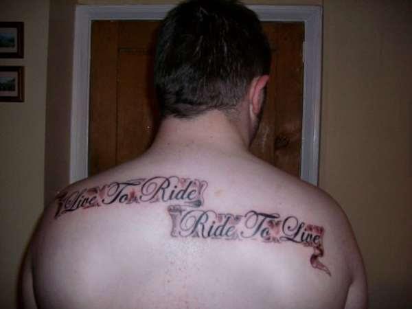 Live To Ride Tattoo