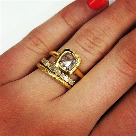 A recipe for the perfect yellow gold stack: start with our