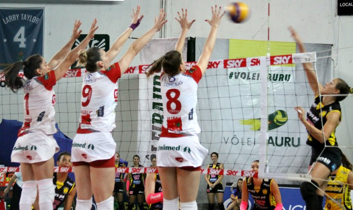 Vôlei Bauru x Praia Clube, Superliga (Foto: Neide Carlos / Vôlei Bauru)