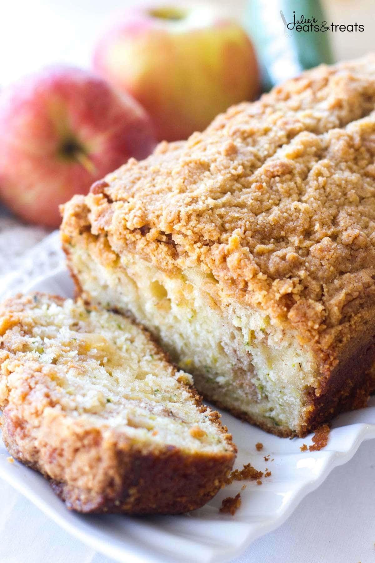 Crumb Apple Zucchini Bread - Julie's Eats & Treats