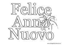 Capodanno Disegni Da Colorare Cartello Con Scritta Felice Anno