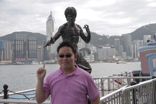 Me with the Bruce Lee Avenue of Stars