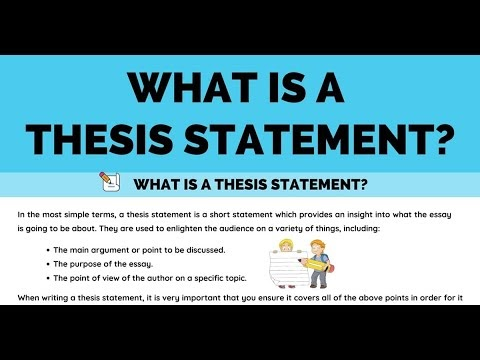 What is Thesis Statement and How to Write Thesis Statement