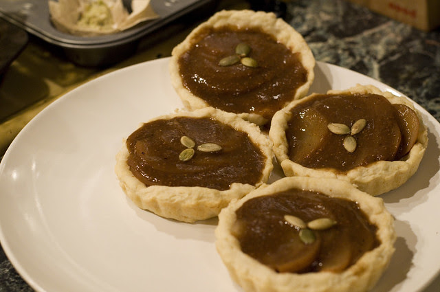 fig & pear masala tarts