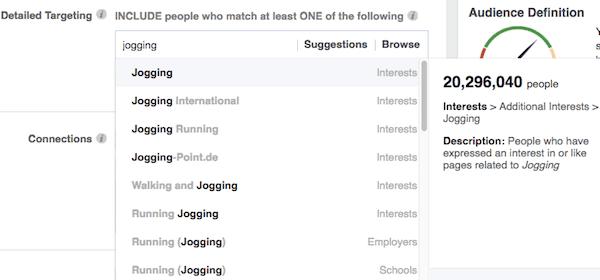 target interests
