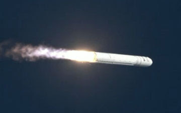 Antares launches from NASA Wallops Flight Facility in Virginia, Sunday, April 21, 2013.