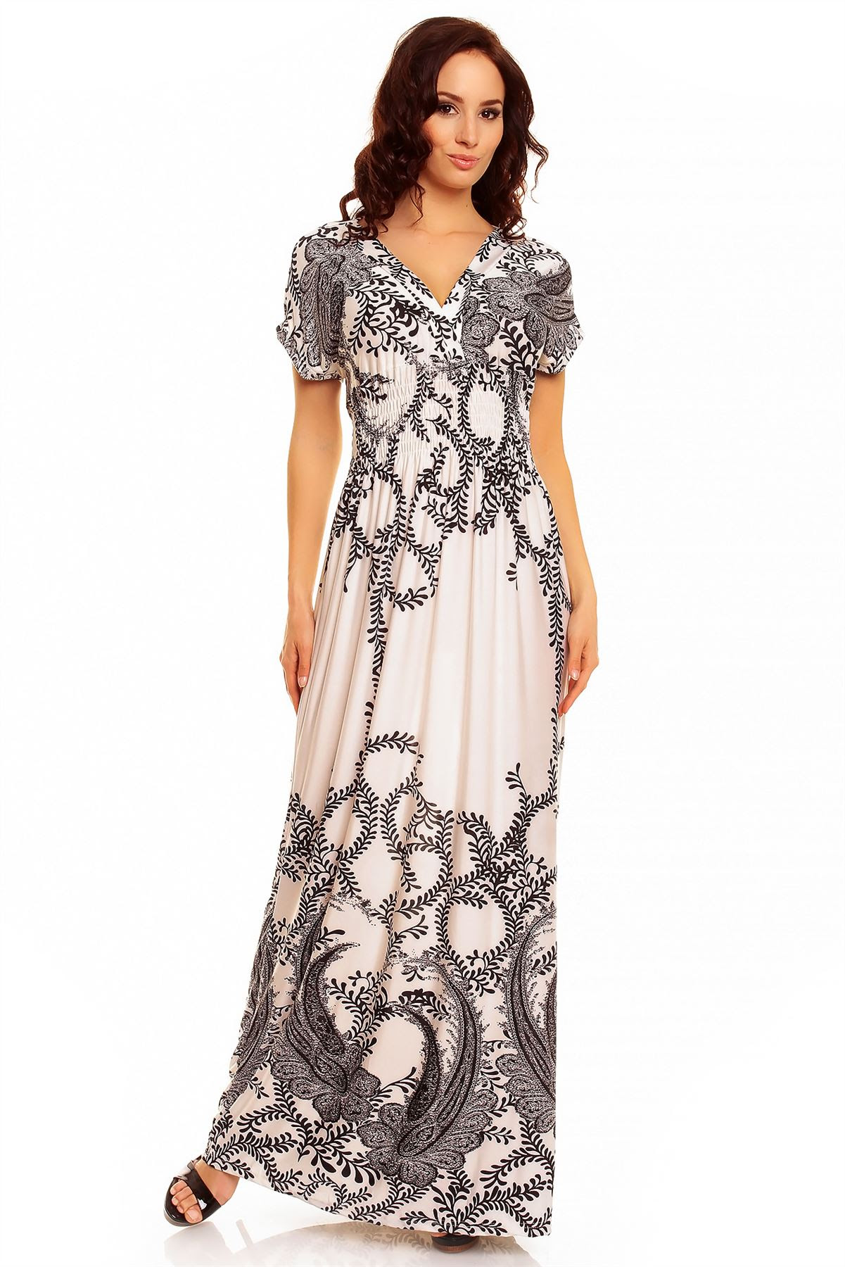 womens floral summer casual beach holiday long maxi day