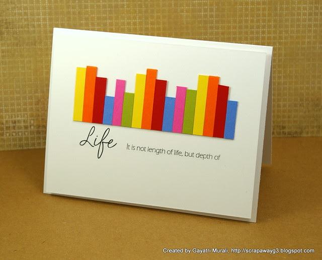 Life graph card