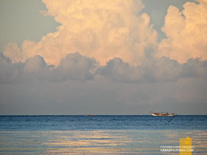 Sunset at Jawili Beach in Tangalan, Aklan