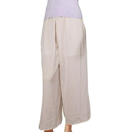 Women's Sz Black Elastic Waist Loose Palazzo Pants (Size XS \/ 2)