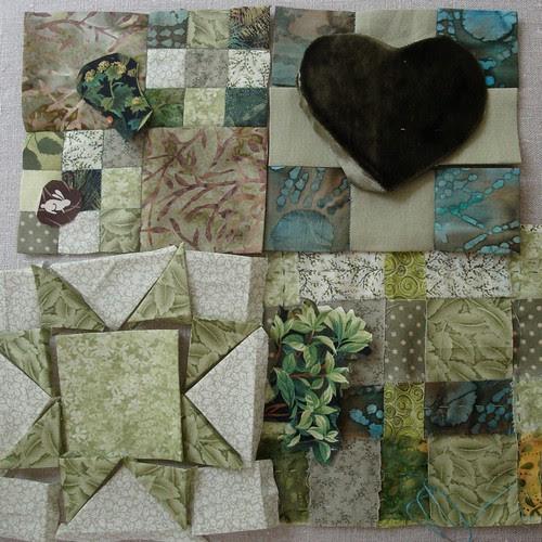 Green Cloth ~ Blocks in progress