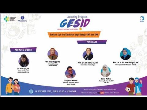 Launching Program Generasi Sehat Indonesia (GESID) untuk Remaja