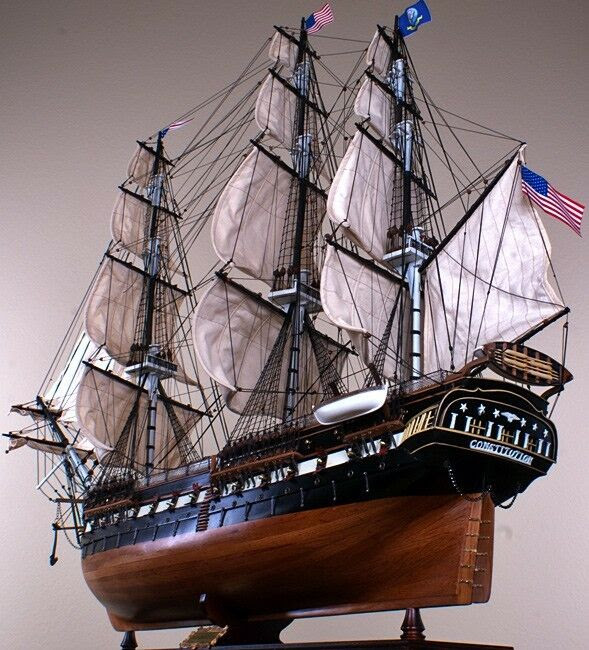 "52"" Wood Model SHIP Large Scale Sailing Tall American Boat 