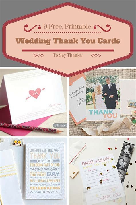 Say thanks to all your wedding guests with these free