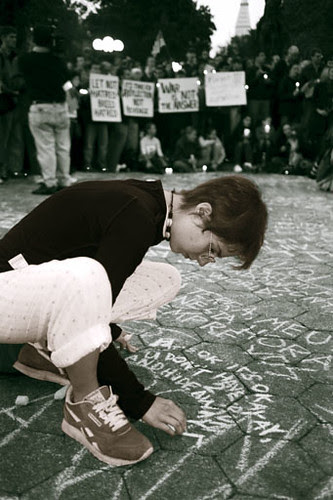 Chalking in Union Square by September Mourning.