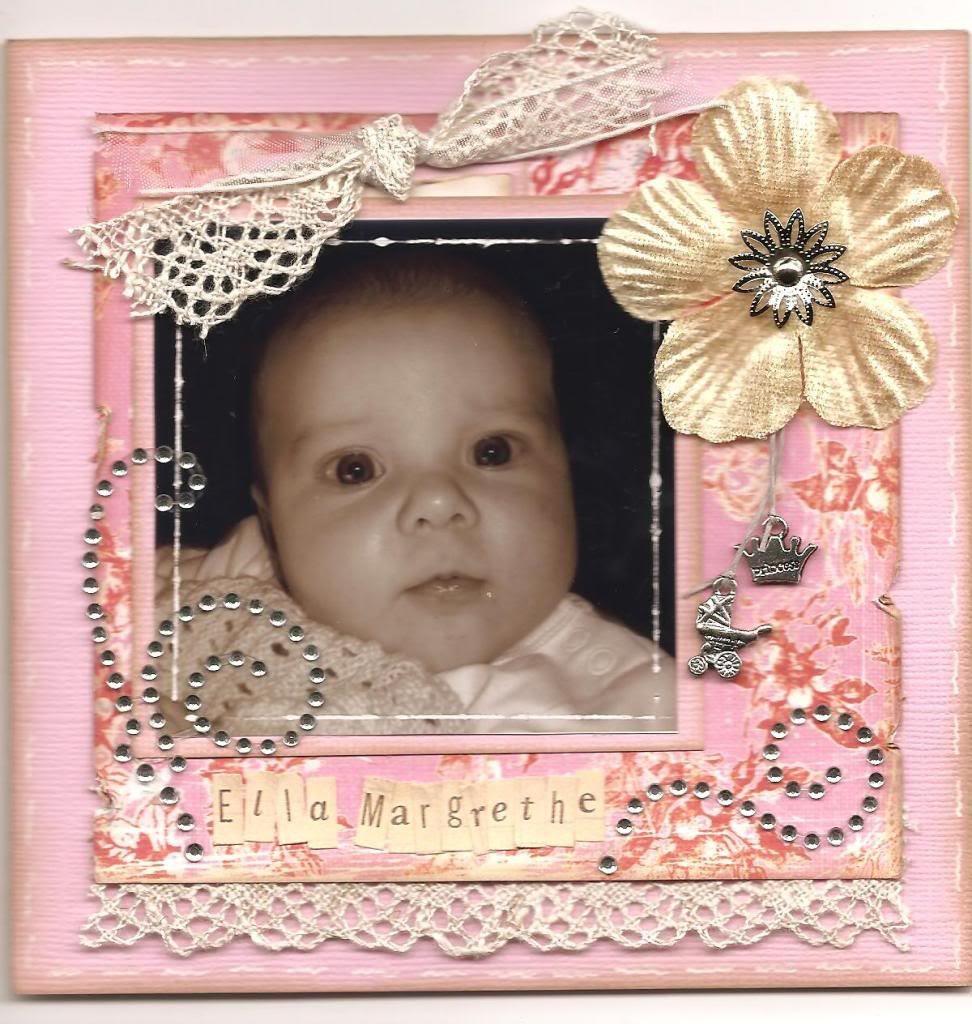 Dåpskort til Ella Margrethe