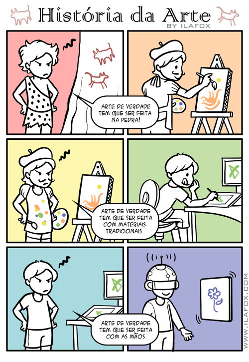 Quadrinhos História da Arte, quadrinhos by ila fox