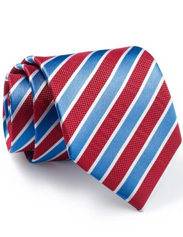 Mẫu Cravat Đẹp 16 - Màu Sọc Trắng Xanh Đỏ