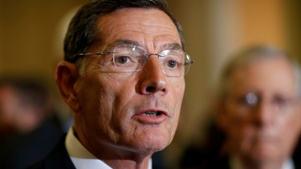 Senator John Barrasso (R-WY) speaks during a press conference on Capitol Hill in Washington, U.S., September 12, 2017.   REUTERS/Joshua Roberts - RC1C870B7100