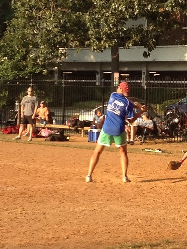 Holly at bat