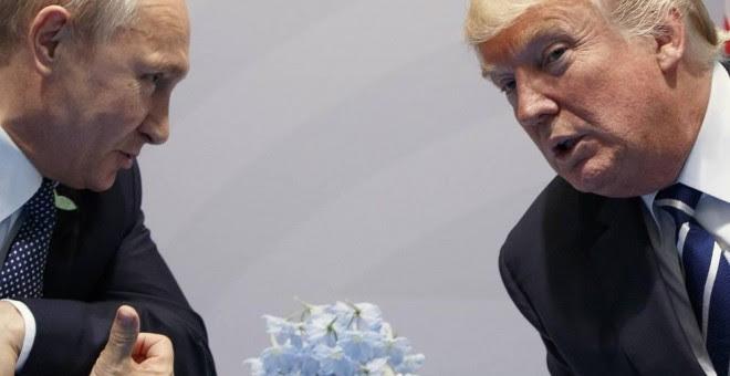 Vladimir Putin y Donald Trump. © Evan Vucci