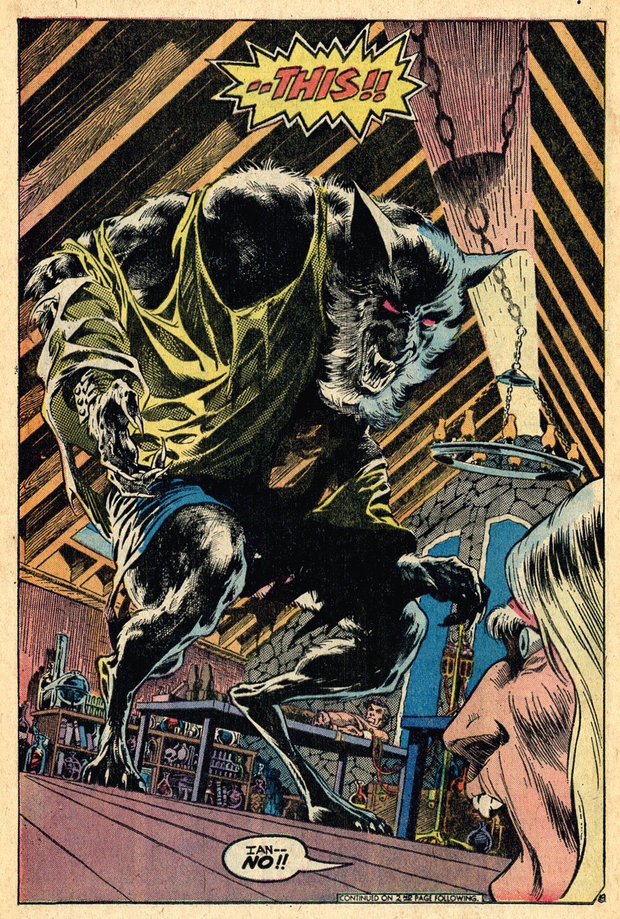Swamp Thing #5 the legendary werewolf, by Len Wein and Bernie Wrightson