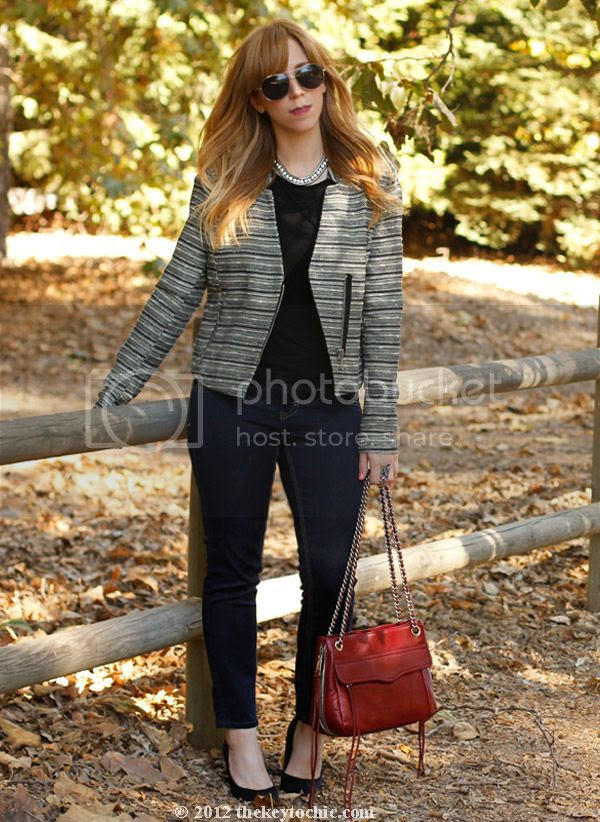 Mossimo zippered tweed jacket, LA fashion blog