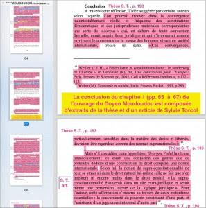 Ce ne sont pas seulement les trois pages de conclusion, mais quasiment les dix dernières pages de ce chapitre 1 qui appartiennent aux travaux de Sylvie Torcol.