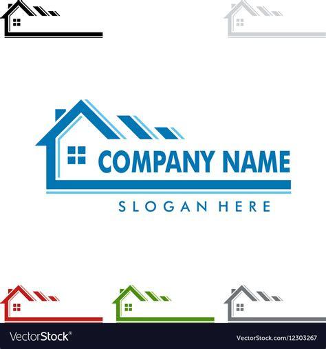 real estate logo design home house logo royalty  vector