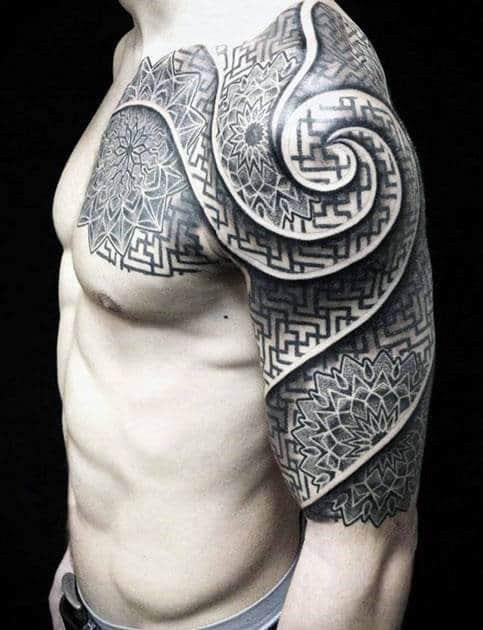 Tatuagens de meia manga celta para homens