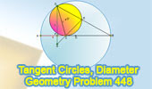 Problem 448: Tangent Circles, Diameter, Perpendicular, Chord.