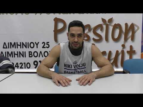 Ο Χρήστος Σιμάκης της Νίκη Βόλου μιλά για τον αγώνα της ομάδας του με τους Ικαρους Τρικάλων
