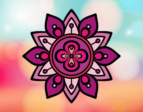 Dibujo De Mandala Flor De Loto Pintado Por Carmen5 En Dibujosnet El