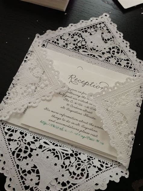 DIY Lace Envelopes   A Future Event of a Now Determined