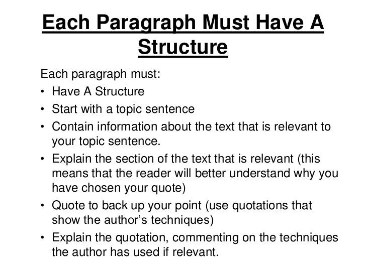 how to write a english essay