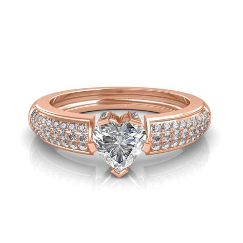 The Beautiful Heart Solitaire Ring   Solitaire Diamond