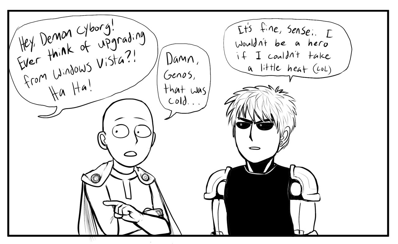 My Drawings Opm One Punch Man Saitama Genos Opm Art This Comic Will Be Funnier This Sunday Brainbubblegum