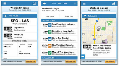 TripIt! image courtesy of Concur Technologies, Inc.