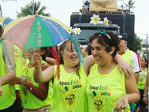 'Portadores da Folia' faz o carnaval de deficientes em João Pessoa (Foto: Marina Magalhães/G1 PB)