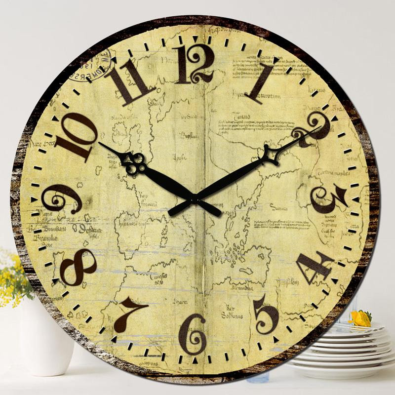"""New Large Wood Wall Clock New 15"""" Vintage Living Dining ..."""