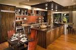 Kitchen: Luxury Brown Wood Kitchen Table And Contemporary Dining ...